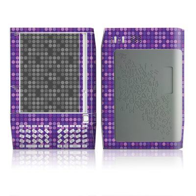 Kindle Skin - Dots Purple