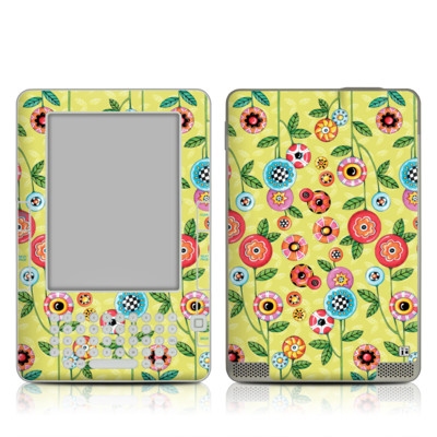 Kindle 2 Skin - Button Flowers