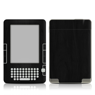 Kindle 2 Skin - Black Woodgrain