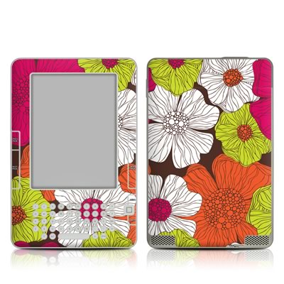 Kindle 2 Skin - Brown Flowers
