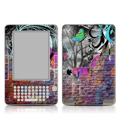 Kindle 2 Skin - Butterfly Wall