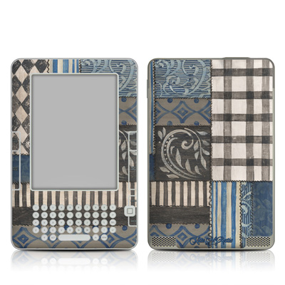 Kindle 2 Skin - Country Chic Blue