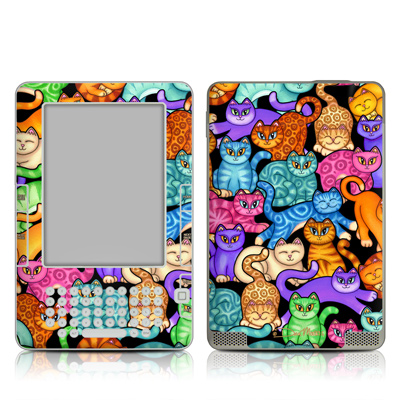 Kindle 2 Skin - Colorful Kittens