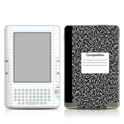 Kindle 2 Skin - Composition Notebook