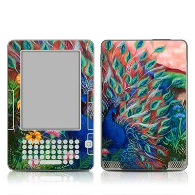 Kindle 2 Skin - Coral Peacock
