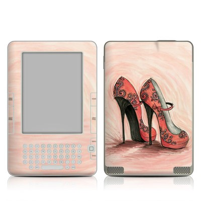 Kindle 2 Skin - Coral Shoes
