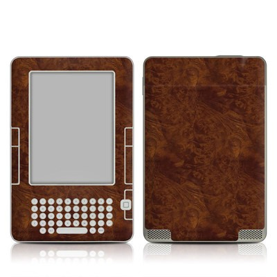 Kindle 2 Skin - Dark Burlwood