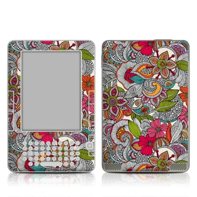 Kindle 2 Skin - Doodles Color