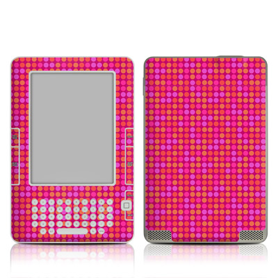 Kindle 2 Skin - Dots Pink