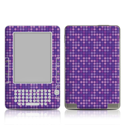 Kindle 2 Skin - Dots Purple