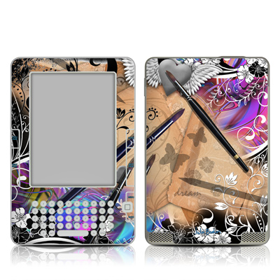 Kindle 2 Skin - Dream Flowers