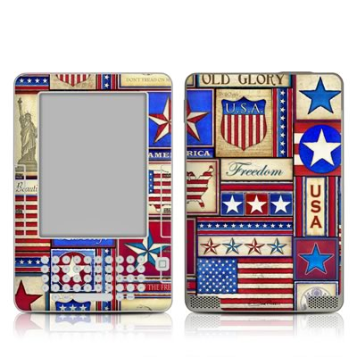 Kindle 2 Skin - Flag Patchwork