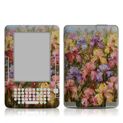 Kindle 2 Skin - Field Of Irises