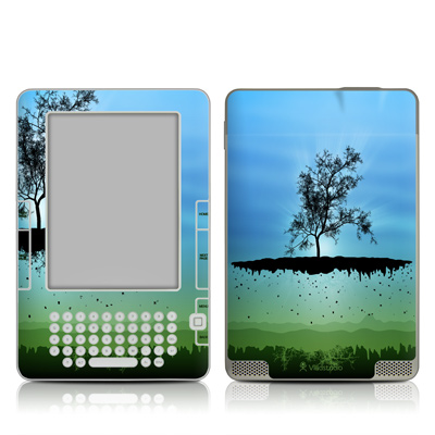 Kindle 2 Skin - Flying Tree Blue