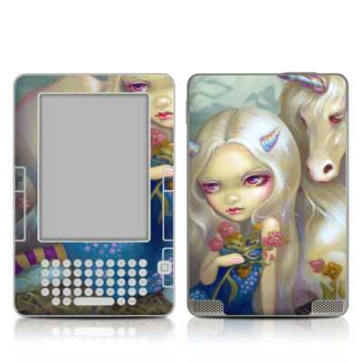 Kindle 2 Skin - Fiona Unicorn