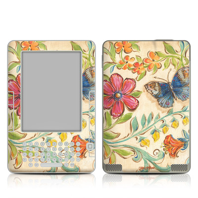 Kindle 2 Skin - Garden Scroll