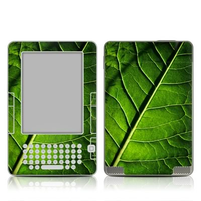 Kindle 2 Skin - Green Leaf