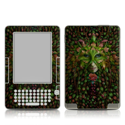 Kindle 2 Skin - Green Woman