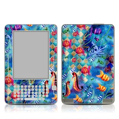 Kindle 2 Skin - Harlequin Seascape