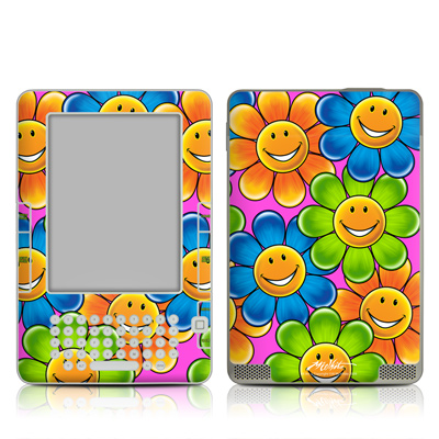 Kindle 2 Skin - Happy Daisies