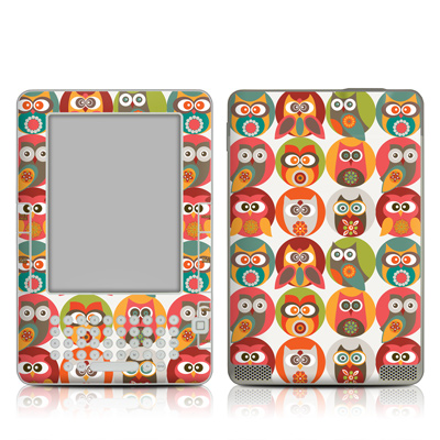 Kindle 2 Skin - Owls Family