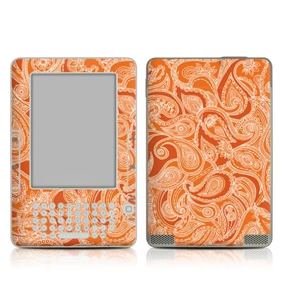 Kindle 2 Skin - Paisley In Orange