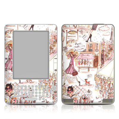 Kindle 2 Skin - Paris Makes Me Happy