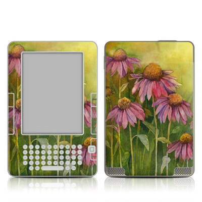Kindle 2 Skin - Prairie Coneflower