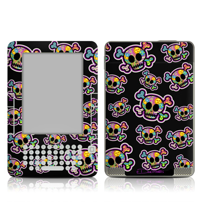Kindle 2 Skin - Peace Skulls