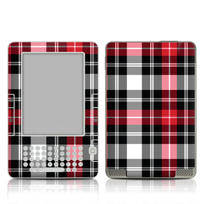 Kindle 2 Skin - Red Plaid
