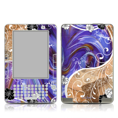 Kindle 2 Skin - Purple Waves