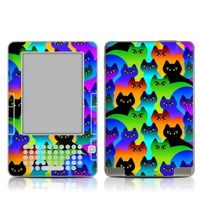 Kindle 2 Skin - Rainbow Cats