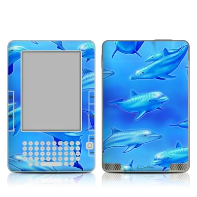 Kindle 2 Skin - Swimming Dolphins