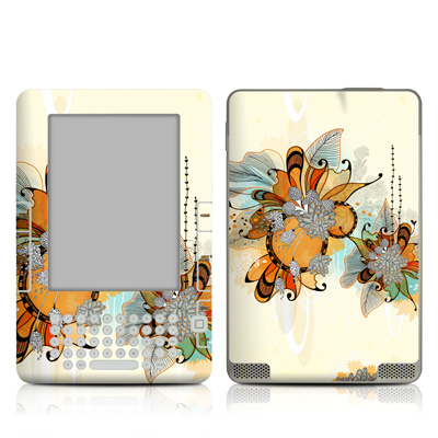 Kindle 2 Skin - Sunset Flowers