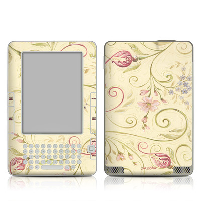 Kindle 2 Skin - Tulip Scroll