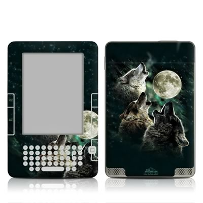 Kindle 2 Skin - Three Wolf Moon
