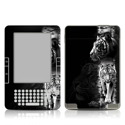 Kindle 2 Skin - White Tiger