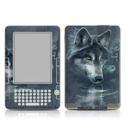 Kindle 2 Skin - Wolf Reflection