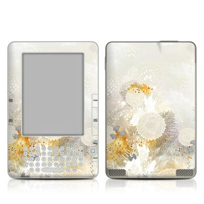 Kindle 2 Skin - White Velvet