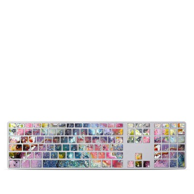 Apple Keyboard With Numeric Keypad Skin - Cosmic Flower