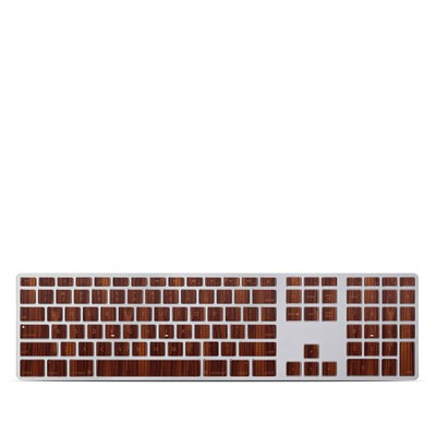 Apple Keyboard With Numeric Keypad Skin - Dark Rosewood