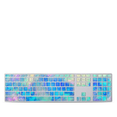 Apple Keyboard With Numeric Keypad Skin - Electrify Ice Blue