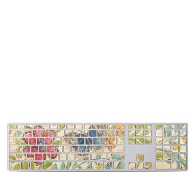 Apple Keyboard With Numeric Keypad Skin - Garden Scroll