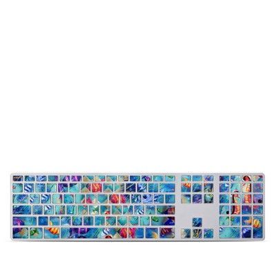 Apple Keyboard With Numeric Keypad Skin - Harlequin Seascape