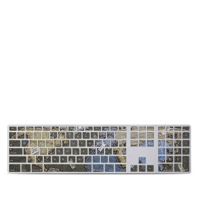 Apple Keyboard With Numeric Keypad Skin - Jean Map