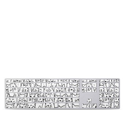 Apple Keyboard With Numeric Keypad Skin - Moody Cats