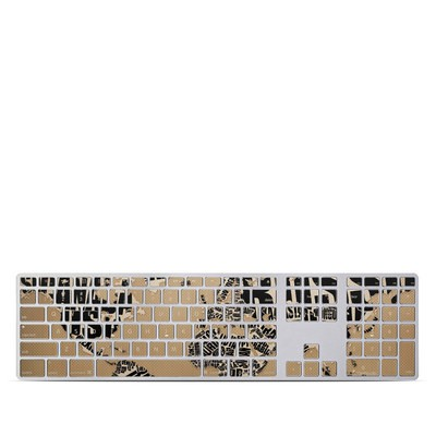 Apple Keyboard With Numeric Keypad Skin - Type Map
