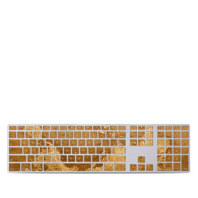 Apple Keyboard With Numeric Keypad Skin - Upside Down Map