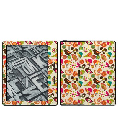 Amazon Kindle Oasis Skin - Bird Flowers