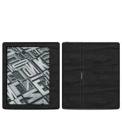 Amazon Kindle Oasis Skin - Black Woodgrain